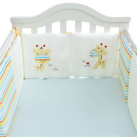 Baby Crib Protector Baby Crib Cot Bumper Infant Toddler Bed Protector Pillow Pad Nursery Bedding Set Ebay