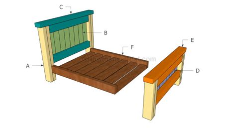 farmhouse bed plans howtospecialist how to build step how to build a pet bed howtospecialist how to build
