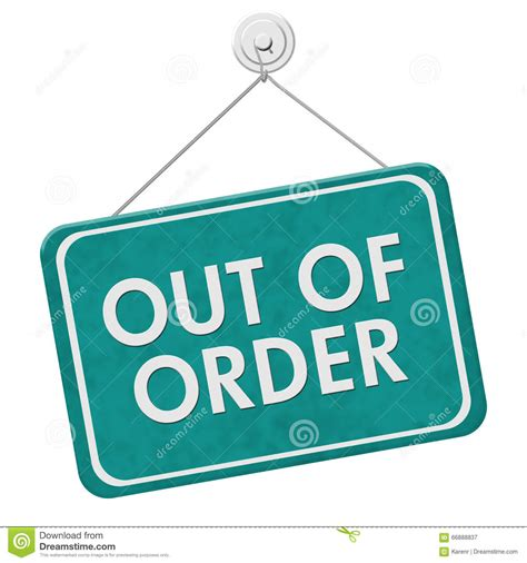 Out Of out of order sign stock image image of concept signboard 66888837
