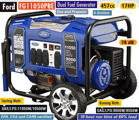 best 28 ford dual fuel generator fg4650b top 10 best