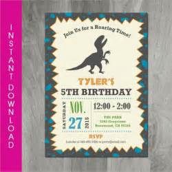 dinosaur birthday invitation template 30 free psd eps