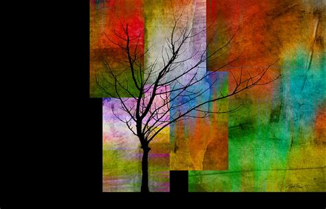 Tree Decor For Home by Abstract Trees Color Blocks With Tree Digital Art By