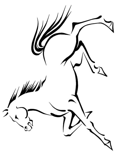 coloring page of horse running free coloring pages of running horses