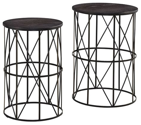 black nesting end tables marxim bronze nesting end tables set of 2 from