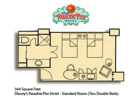 disneyland hotel 2 bedroom suite layout disney s paradise pier hotel information and pictures