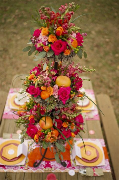 colorful floral wedding centerpieces to complete your