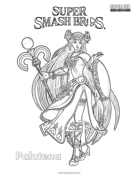 smash bros coloring pages palutena smash brothers coloring page