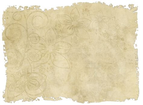 How To Make Vintage Paper - paper with torn edges and a faded floral design www