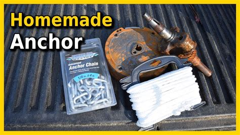 anchor boat you tube how to make a homemade boat anchor youtube