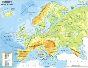 Labeled Europe Map by Pics Photos Labeled Physical Map Of Europe