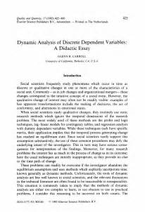 Historical Analysis Essay by Dynamic Analysis Of Discrete Dependent Variables A Didactic Essay Springer