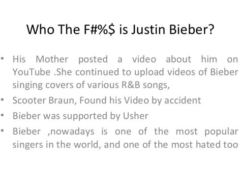 justin bieber biography ppt who the f2
