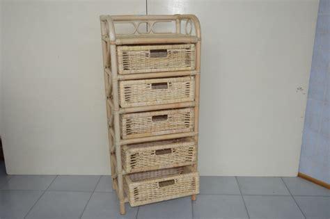 cassettiere in vimini cassettiere in rattan midollino goinco bambu arredamento