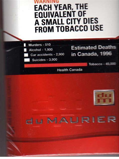 packs canada file canadian pack du maurier cigarettes scanned jpg