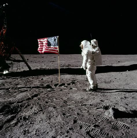 Neil Armstrong An American The Space Race U S Puts The Flag On The Moon