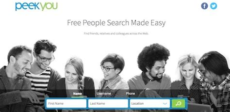 Peekyou Search Top 20 Search Engines To Find Anyone You Want Quertime