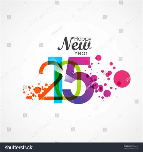creative happy new year texts happy new year 2015 creative text stock vector 232250665