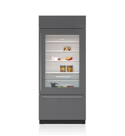 Refrigerators With Glass Doors For The Home 30 Quot Built In And Glass Door Refrigerator