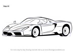 How To Draw A Enzo Step By Step Learn How To Draw A Enzo Sports Cars Step By