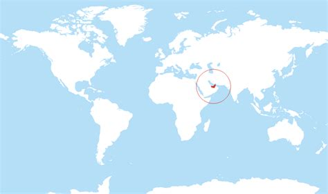 uae on world map where is the united arab emirates located on the world map
