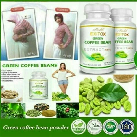 Hendel Exitox Green Coffee Bean exitox green coffee bean hendel kapsul pelangsing