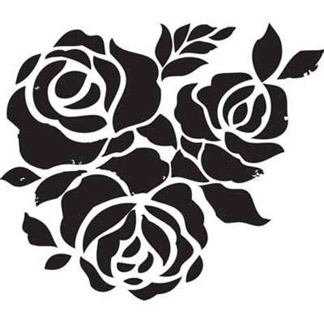 Vinyl Wall Sticker Printing free stencils can be used as a coloring page rose