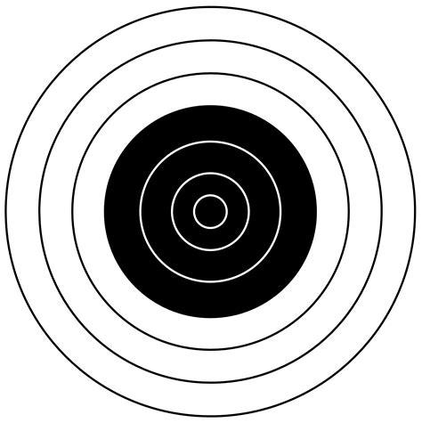 printable black and white targets bullseye clip art