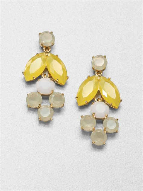 Lyst Kate Spade New York Chandelier Earrings In White Kate Spade Chandelier Earrings