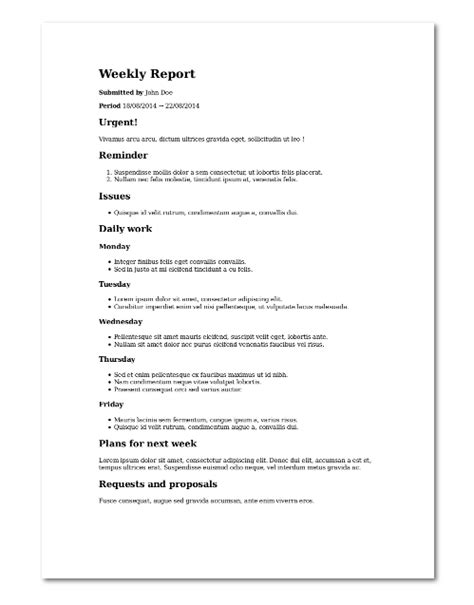 Markdown Report Template github lucasvandroux template weekly report template