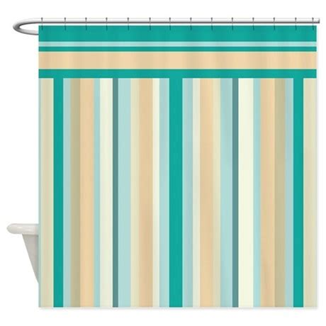 neutral color curtains teal and neutral stripes shower curtain by getyergoat