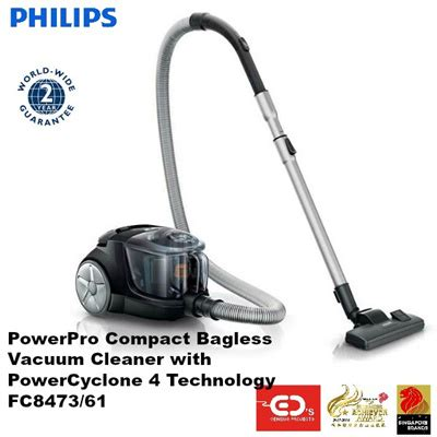 qoo10 philips powerpro compact bagless vacuum cleaner