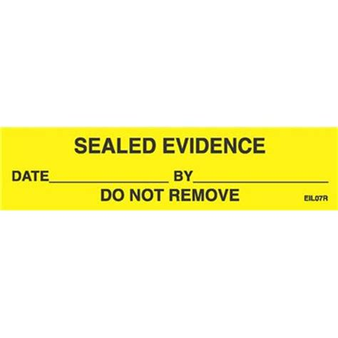 printable evidence labels sirchie sealed evidence labels roll of 250 eil07r