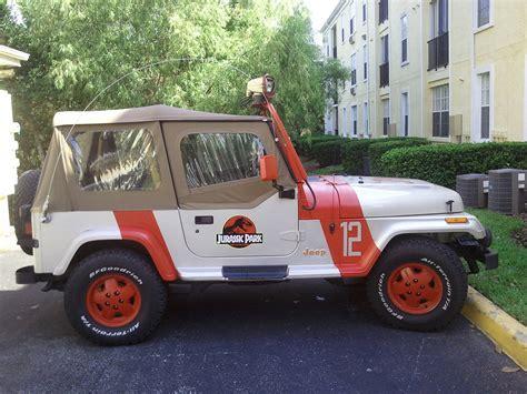 jurassic park jeep 1995 jeep wrangler sahara jurassic park photo gallery