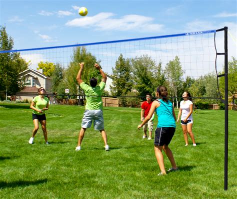 backyard volleyball set portable volleyball sets designed with families in mind