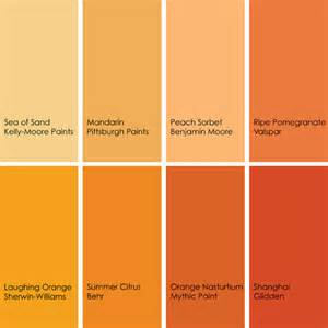 Names Of Orange Colors by Blog Marie Burgos Design