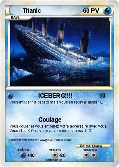 film titanic version français pok 233 mon titanic 48 48 iceberg ma carte pok 233 mon