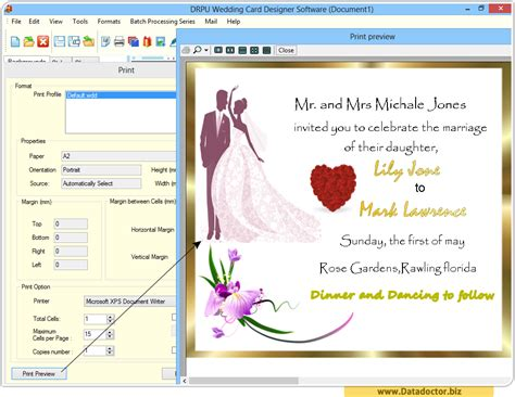 free wedding card software birthday invitation design software choice image