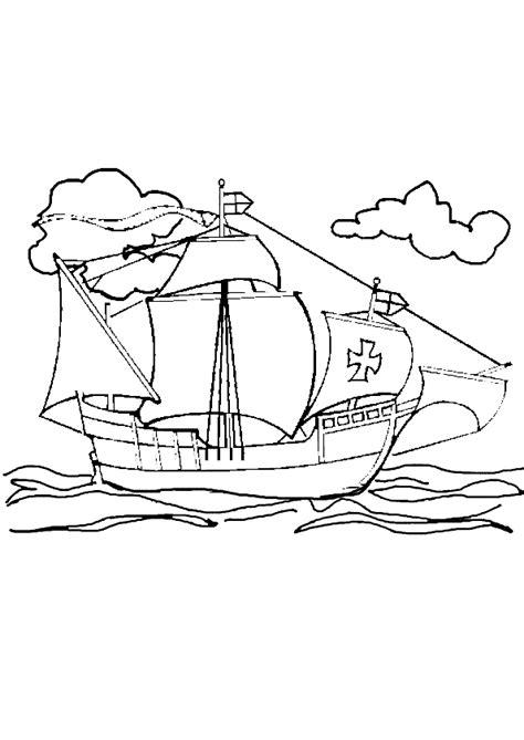 dessin d un bateau à voile coloriage d un bateau 224 voile naviguant sur la mer