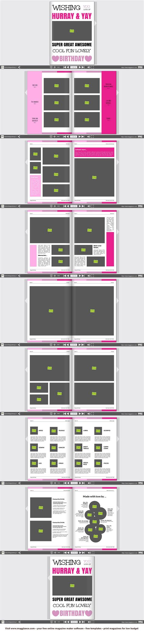 Design Vorlage Magazin Geburtstagsszeitung Kostenlos Erstellen Und G 252 Nstig Drucken Unter Https De Magglance