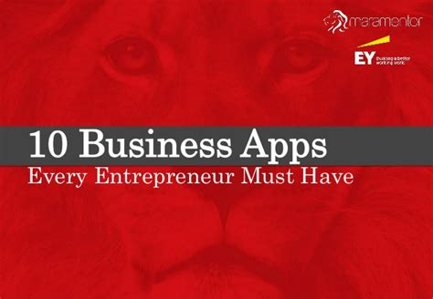The 10 Entrepreneur 1 10 business apps every entrepreneur must