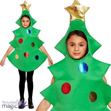 xmas tree model for fancydress child cracker present tree gift nativity play fancy dress costume ebay