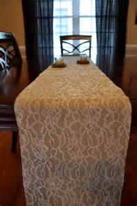 lace and burlap table runner custom made by settinguphouse
