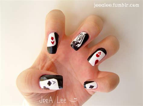 Nail Gift Card - aces cards king nail art nails poker nails image 66277 on favim com