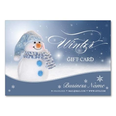 make your own business gift cards gift certificate snowman design the o jays make