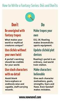 how to write series do s and don ts now novel
