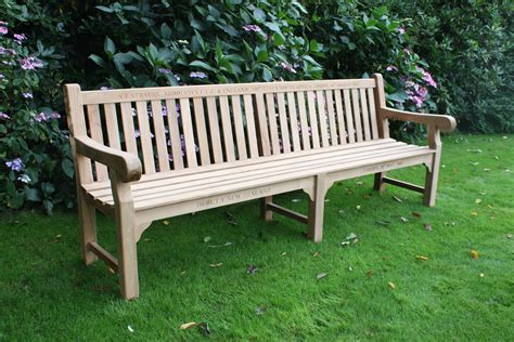england bench chic teak supplies commemorative bench to andrew strauss