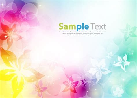 colored beautiful flowers design graphics vector flower colorfully abstract flower design background vector