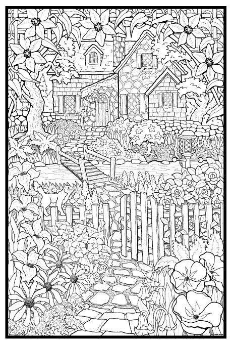 cottage house coloring pages cottage gt lots more coloring pages at http