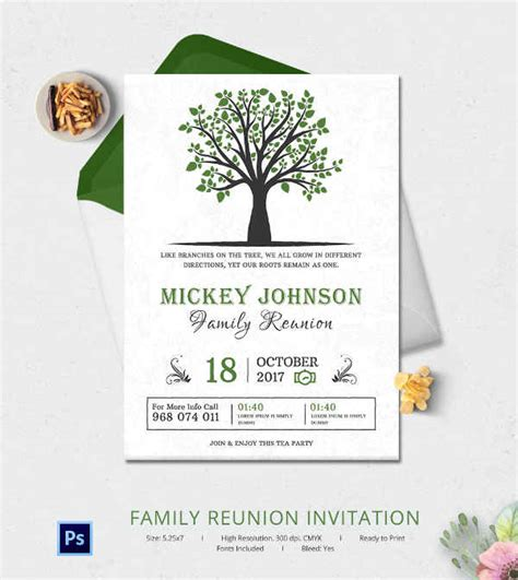 reunion invitation design vector 32 family reunion invitation templates free psd vector