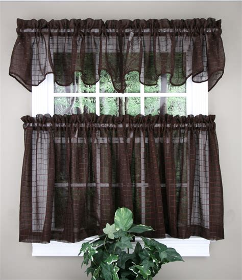 decorative kitchen curtains chocolate achim